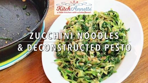 KitchAnnette Zucchini Noodles TITLE